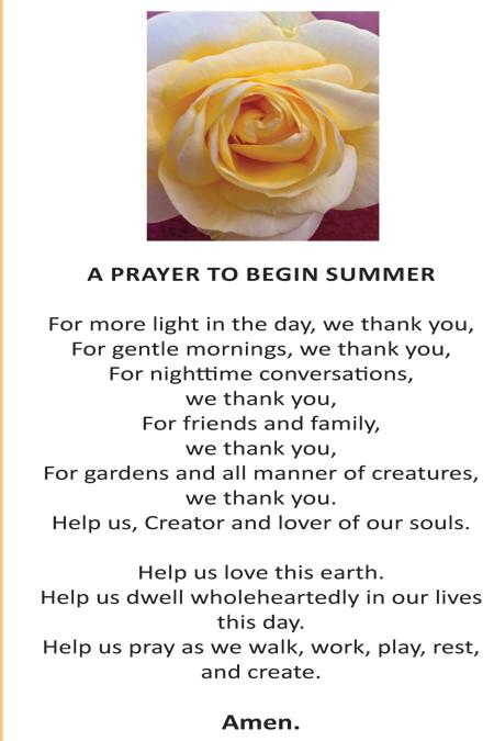 A Prayer to begin Summer | Church of St Thérèse, Mount Merrion Parish