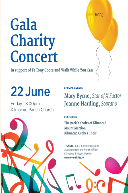 Gala Charity Concert – St Laurence O'Toole, Kilmacud this Friday 22nd in aid of WWYC.ie