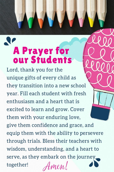 A Prayer for our Students