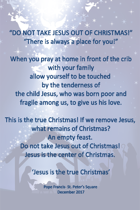 Do not take Jesus out of Christmas