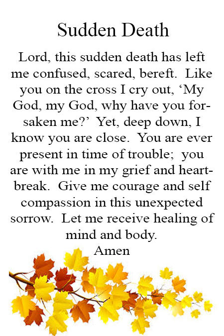 Prayer for Sudden Death