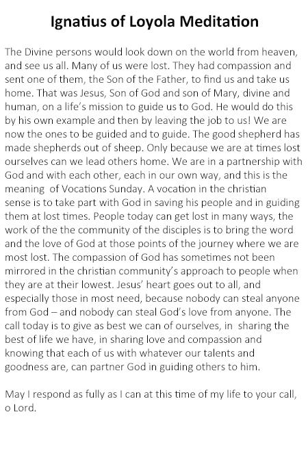 Ignatius of Loyola Meditation