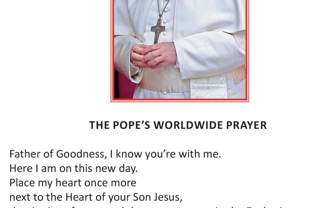 pope worldwide prayer