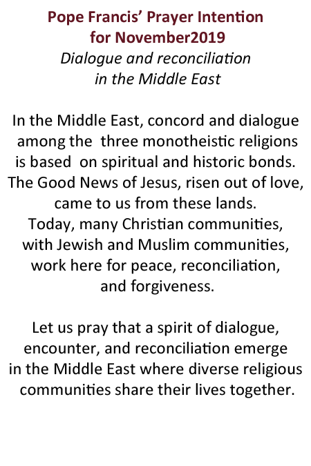 Pope Francis Pray Middle East
