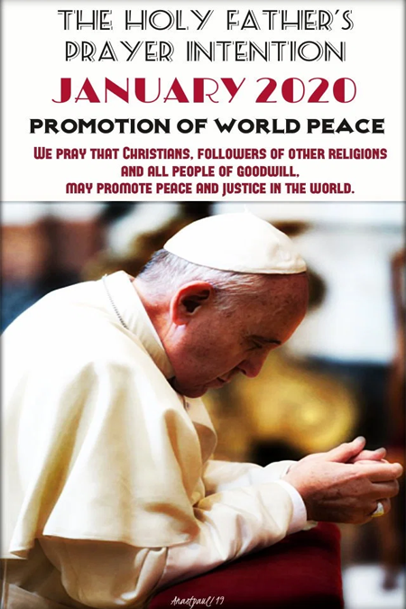 Pope Francis January Prayer Intentions