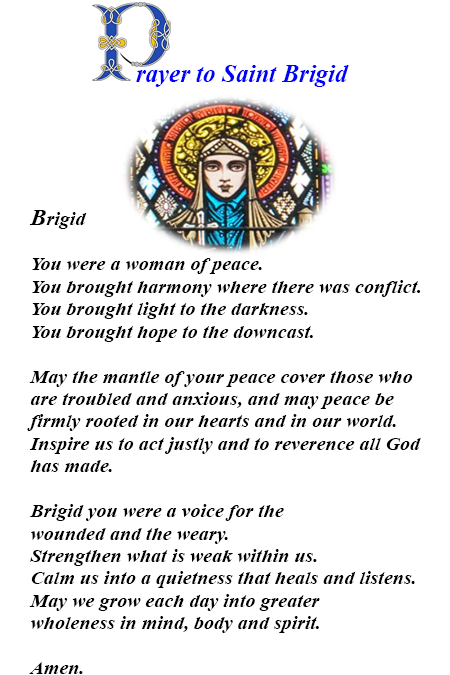 Prayer to St Brigid