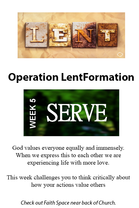 Lent – week 5