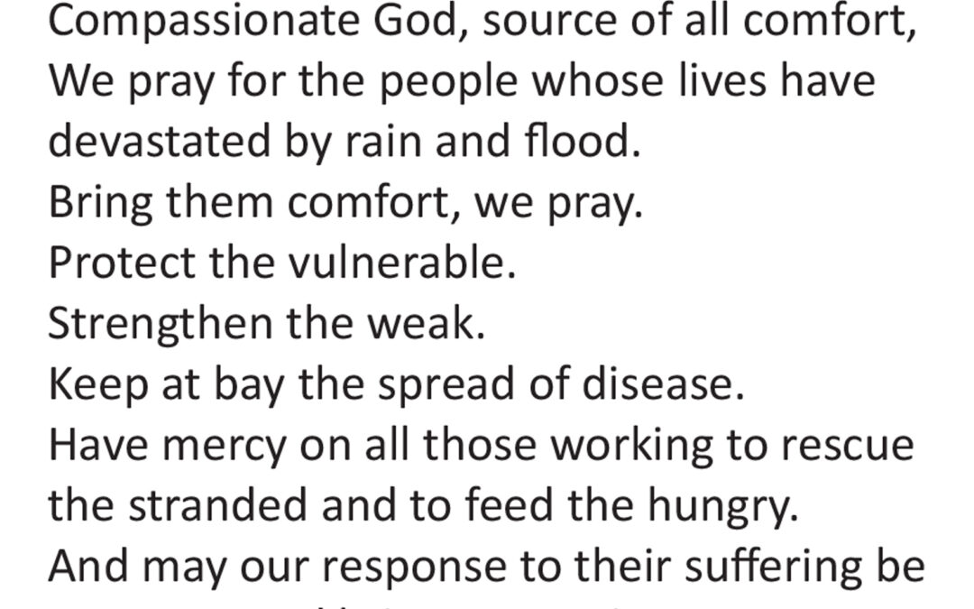 prayer affected by flood