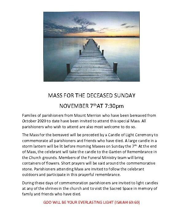 Mass for the Deceased 4 Sunday